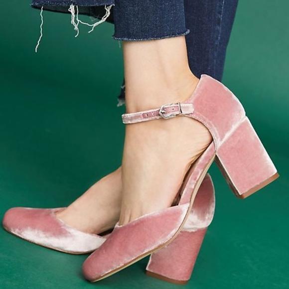 2468c54bf9f Sam Edelman | Clover Velvet Ankle Strap Block Heel